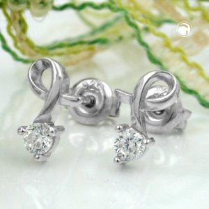 Boucles oreilles en Zircon argent 925 Krossin bijoux en argent 92344x