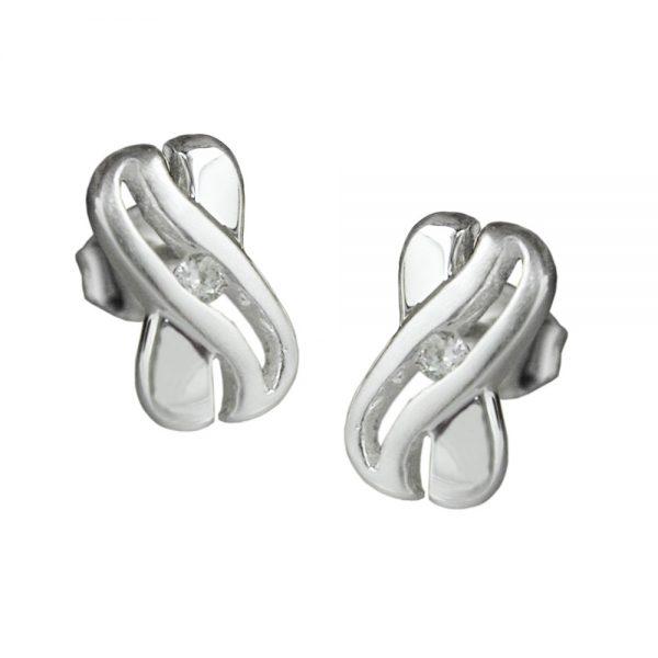 Boucles oreilles en Zircon cubique argent 925 Krossin bijoux en argent 91017xx