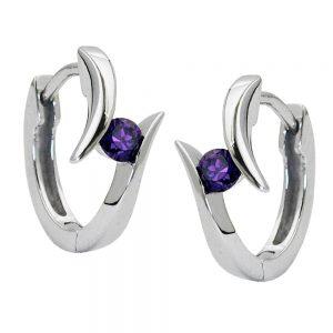 Boucles oreilles en argent rhodie 925 Krossin bijoux en argent 93224xx