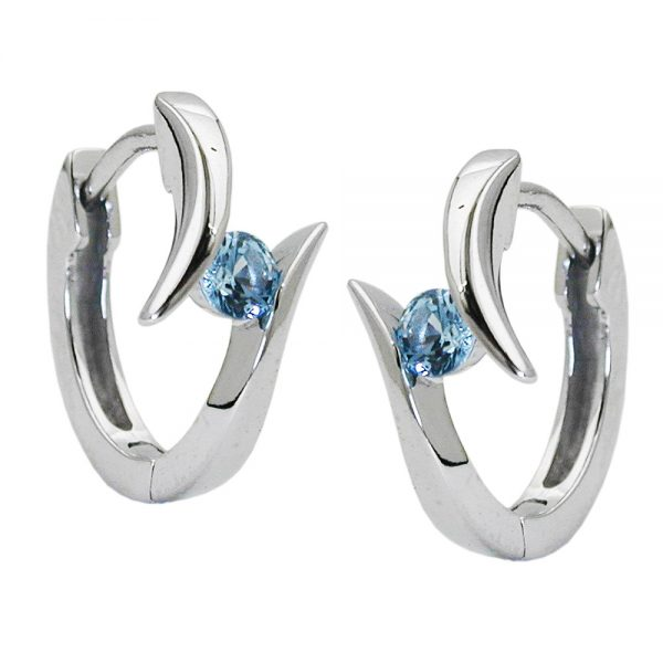 Boucles oreilles en argent rhodie 925 Krossin bijoux en argent 93446xx