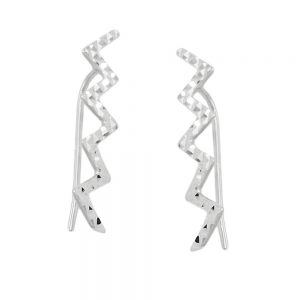 Boucles oreilles en argent zigzag 925 Krossin bijoux en argent 93654xx