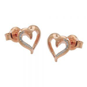 Boucles oreilles en plaque or rouge 925 Krossin bijoux en argent 93691xx