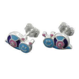 Boucles oreilles escargot colore argent 925 Krossin bijoux en argent 93338xx