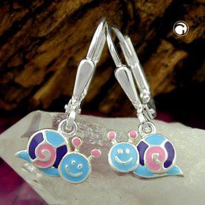 Boucles oreilles escargot escargot argent 925 Krossin bijoux en argent 93332x