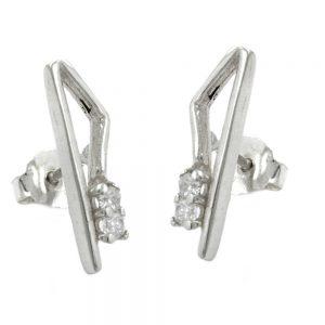 Boucles oreilles fantaisie Zircon argent 925 Krossin bijoux en argent 90636xx