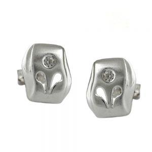 Boucles oreilles fantaisie Zircon argent 925 Krossin bijoux en argent 92218xx