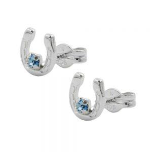 Boucles oreilles fer a cheval en argent 925 Krossin bijoux en argent 90400xx