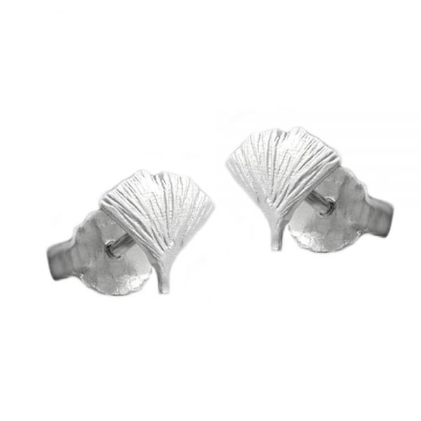 Boucles oreilles feuille ginkgo 4 argent 925 Krossin bijoux en argent 90131xx