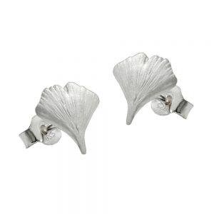 Boucles oreilles feuille ginkgo 7 argent 925 Krossin bijoux en argent 90402xx