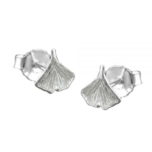 Boucles oreilles feuille ginkgo argent 925 Krossin bijoux en argent 3 90121xx