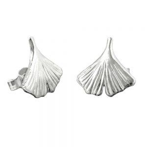 Boucles oreilles feuille ginkgo argent 925 Krossin bijoux en argent 90040xx
