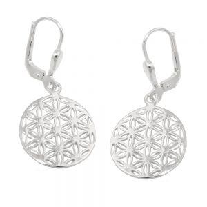 Boucles oreilles fleur de vie argent 925 Krossin bijoux en argent 93755xx