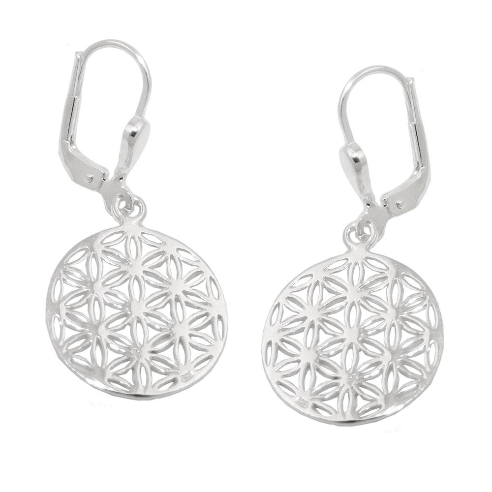 Boucles oreilles fleur de vie argent 925 Krossin bijoux en argent 93755xx 4bb503ce7d6