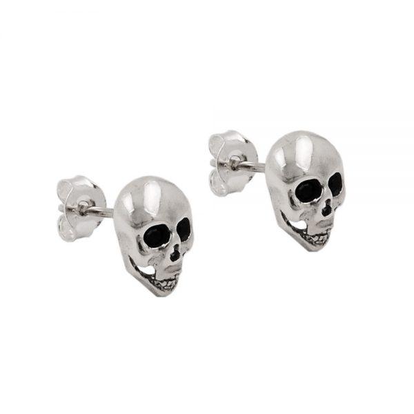 Boucles oreilles goujons crânes argent 925 Krossin bijoux en argent 93519xx