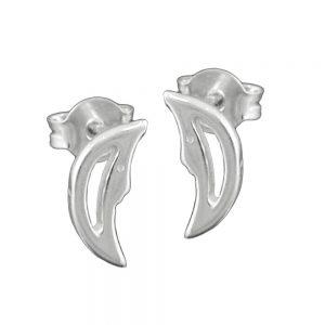 Boucles oreilles lune avec visage argent 925 Krossin bijoux en argent 92138xx