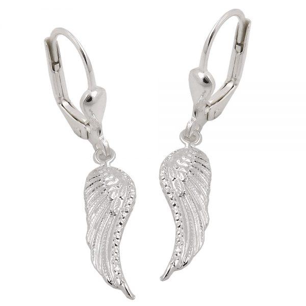 Boucles oreilles pendantes ailes argent 925 Krossin bijoux en argent 93523xx