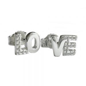 Boucles oreilles pendantes amour Zircon argent 925 Krossin bijoux en argent 91633xx