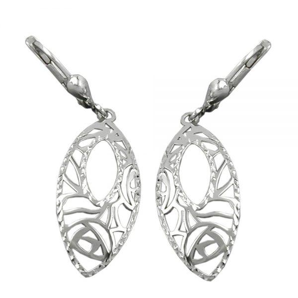 Boucles oreilles pendantes argent 925 Krossin bijoux en argent 91933xx