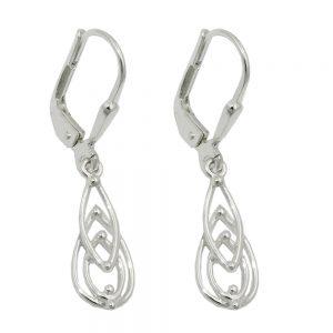 Boucles oreilles pendantes argent 925 Krossin bijoux en argent 93664xx