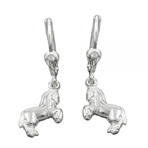 Boucles oreilles pendantes cheval argent 925 Krossin bijoux en argent 93368xx