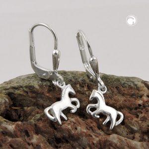 Boucles oreilles pendantes chevaux argent 925 Krossin bijoux en argent 93475x
