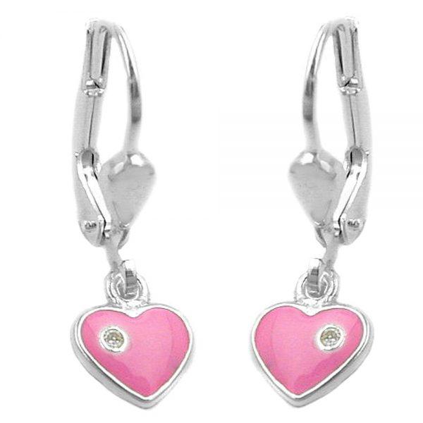 Boucles oreilles pendantes coeur argent 925 Krossin bijoux en argent 92464xx