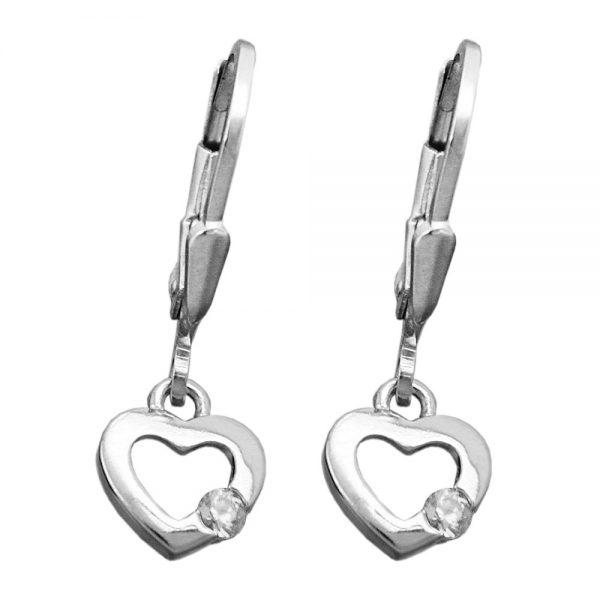 Boucles oreilles pendantes coeur argent 925 Krossin bijoux en argent 93431xx