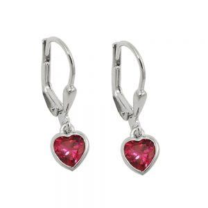 Boucles oreilles pendantes coeur argent 925 Krossin bijoux en argent 93768xx