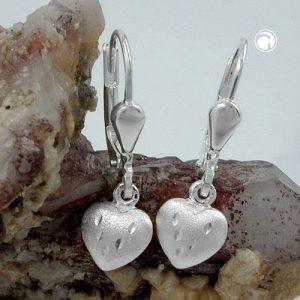 Boucles oreilles pendantes coeurs argent 925 Krossin bijoux en argent 93105x