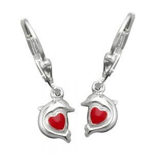 Boucles oreilles pendantes dauphin argent 925 Krossin bijoux en argent 91762xx
