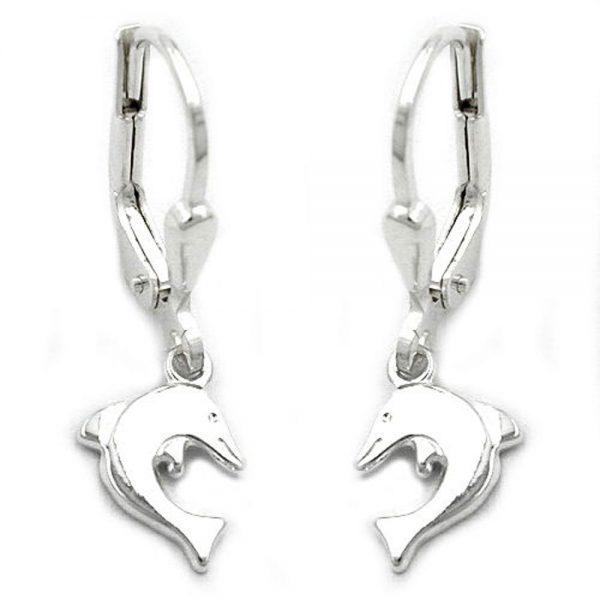 Boucles oreilles pendantes dauphins argent 925 Krossin bijoux en argent 93187xx