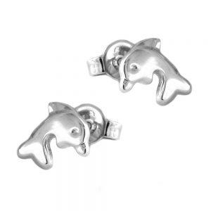 Boucles oreilles pendantes dauphins argent brillant 925 Krossin bijoux en argent 91556xx