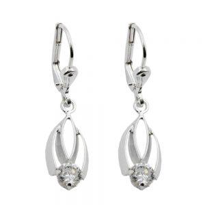 Boucles oreilles pendantes en Zircon argent 925 Krossin bijoux en argent 90811xx