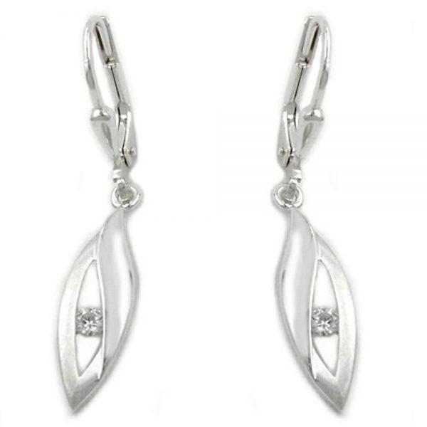 Boucles oreilles pendantes en Zircon argent 925 Krossin bijoux en argent 93195xx