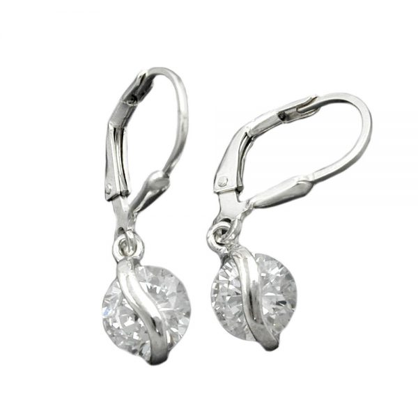 Boucles oreilles pendantes en Zircon argent 925 Krossin bijoux en argent 93394xx
