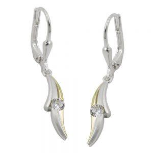 Boucles oreilles pendantes en Zircon argent 925 Krossin bijoux en argent 93505xx