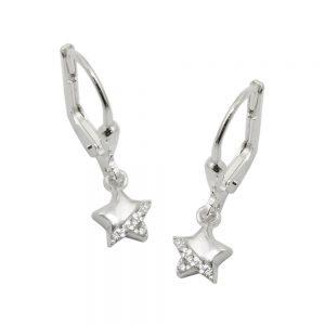 Boucles oreilles pendantes en Zircon argent 925 Krossin bijoux en argent 93656xx