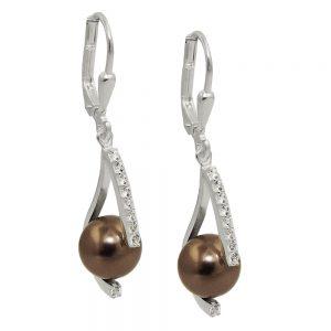Boucles oreilles pendantes en Zircon argent 925 Krossin bijoux en argent 93659xx