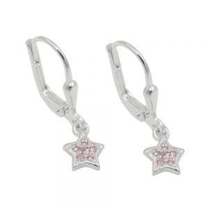 Boucles oreilles pendantes en Zircon argent 925 Krossin bijoux en argent 93707xx