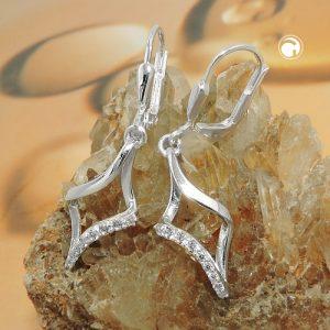 Boucles oreilles pendantes en Zircon argent 925 Krossin bijoux en argent 93718x