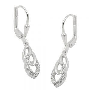 Boucles oreilles pendantes en Zircon argent 925 Krossin bijoux en argent 93719xx