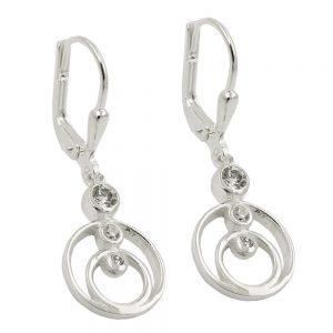 Boucles oreilles pendantes en Zircon argent 925 Krossin bijoux en argent 93723xx
