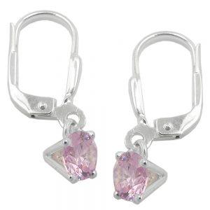 Boucles oreilles pendantes en Zircon argent 925 Krossin bijoux en argent 93807xx