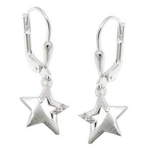 Boucles oreilles pendantes etoile argent 925 Krossin bijoux en argent 93510xx