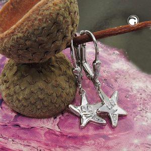 Boucles oreilles pendantes etoile argent 925 Krossin bijoux en argent 93772x