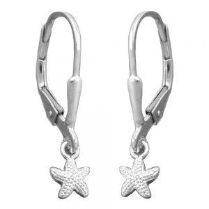 Boucles oreilles pendantes etoile de mer argent 925 Krossin bijoux en argent 93367xx