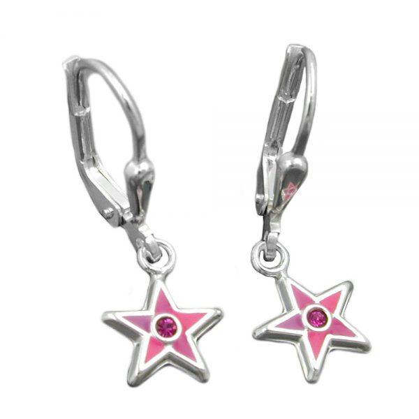 Boucles oreilles pendantes etoiles argent 925 Krossin bijoux en argent 93335xx