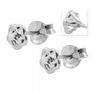 Boucles oreilles pendantes fleur Zircon argent 925 Krossin bijoux en argent 91422xx