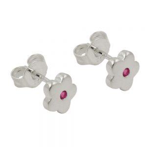 Boucles oreilles pendantes fleur rose argent 925 Krossin bijoux en argent 93637xx