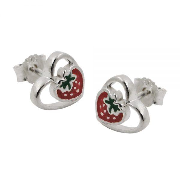 Boucles oreilles pendantes fraises argent 925 Krossin bijoux en argent 93471xx